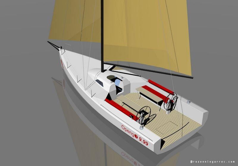 Sailboat Opengo 999 Performance from idbmarine shipyard near Concarneau in Finistere